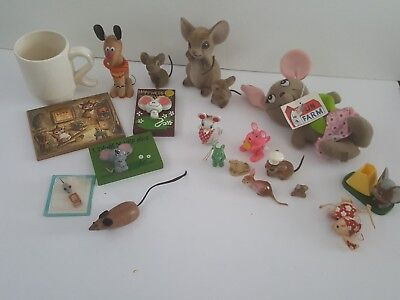 Lot of  Vintage Mouse Collectibles  Mice are So Cute!!