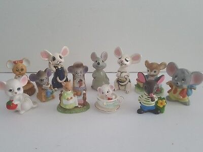 Lot of  Vintage Mouse Collectibles  Mice are So Cute!! Lot 3 of 4  Great Items