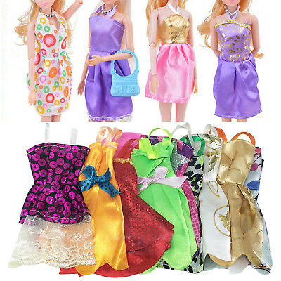 10PCS Fashion Handmade Dresses Clothes For Barbie Doll Style Random Gift Set HI