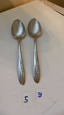 Set Of 2   Insico  International Silver   Ins74   Serving Spoons  Stainless
