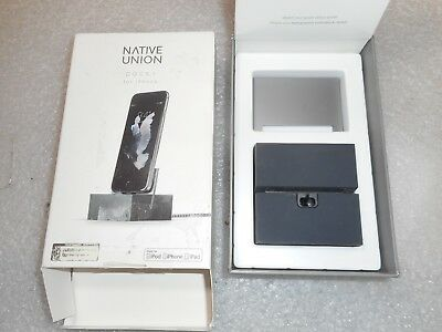 Native Union DOCK for Apple Lighting Devices - Slate/Space Gray DOCK-IP (A01)