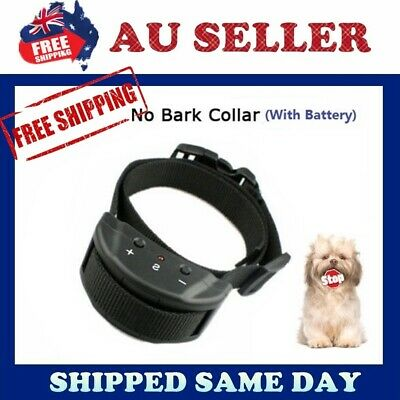 2019 Genuine Automatic Anti No Bark Stop Barking Control Collar Dogs Training