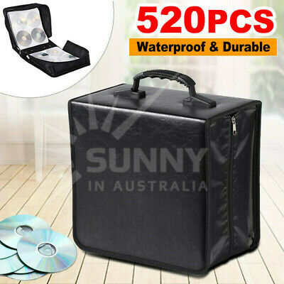 520Disc CD Holder Box DVD Case Storage Wallet Organizer PU Leather Bag AU