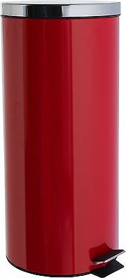 HOME 30 Litre Kitchen Pedal Bin - Red.