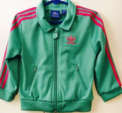 Adidas Toddlers Jacket  Green & Pink Size 18 months