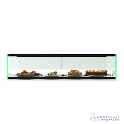 Ambient Display Single Tier Tempered Glass 920x300x200mm Muffin Cake Biscuit