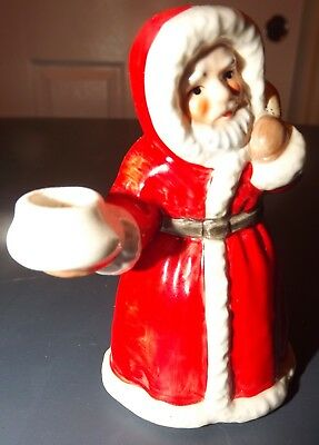 "Vintage Goebel W Germany 4"" Santa tea light candle holder 4431 10 EUC"