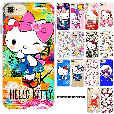 Silicone iPhone Case Cover Cute Colourful Kawaii Hello Kitty Collection Anime AU