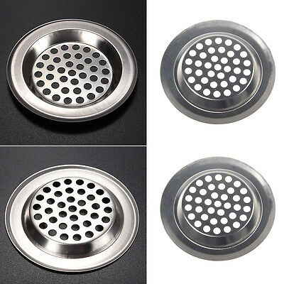 2xStainless Steel Mesh Sink Strainer for Kitchen Hair Catcher Trap Filter Drain*