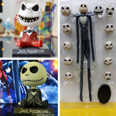 The Nightmare Before Christmas Jack Skellington 12 Change Skull Heads Figur Gift