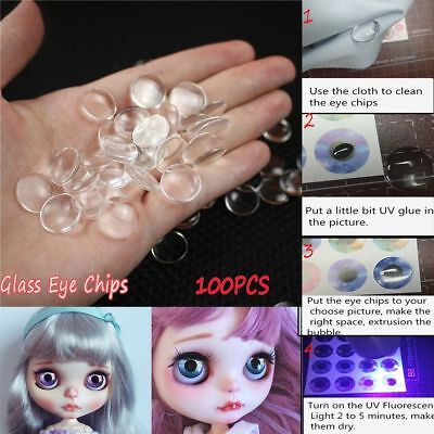 100PCS(50pairs) Wholesale 14mm Glass Doll Eye Chips Blyth Doll Eye Accessories