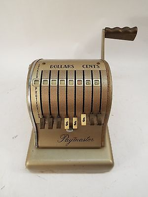 Vintage Paymaster Check Writer S-600 Series 8 Column - Business Machine Printer