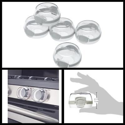 Safety 1st Clear View Stove Knob Covers 5 Count Universal Size Kitchen Tools new