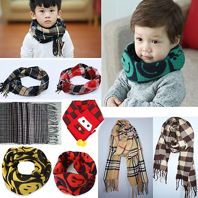 Cute Child Kids Boy Girl Classic Grid Plaid Scarves Neckerchief Neck Warm Scarf