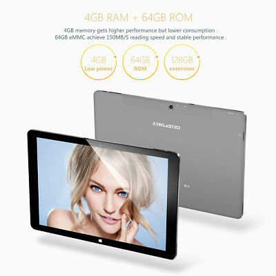 "Teclast Tbook11 10,6"" Windows 10 Android 5,1 Intel 4+64GB Tableta PC HDMI New"