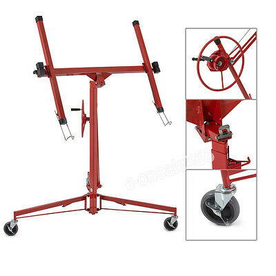 11FT/335cm 68kg Lift Lifter Tool Drywall Hoist Caster Plaster Board Panel Sheet