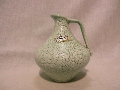 Jasba 210/10 Vase Keramik Cortina gruen west german pottery design 50s 50er