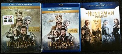 The Huntsman Winters War Blu Ray Dvd Target Exclusive + Slipcover & 28 Page Book