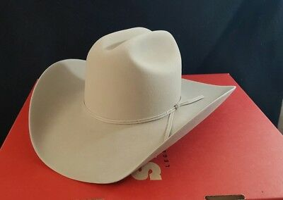 5a6ae42ea97 VINTAGE STETSON 5X Xxxxx Size 6 7 8 D4 Ranch Tan Cowboy Hat In Box ...