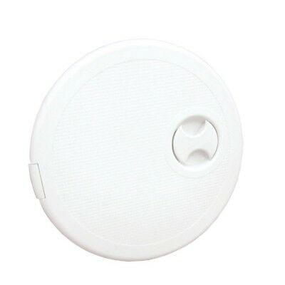 WHITE PLASTIC ACCESS ROUND INSPECTION HATCH 368mm x 279mm WHITE Motorhome yacht
