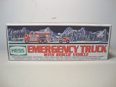 2005 Hess Emergency Truck With Rescue Vehicle *new In Box* *fast Shipping* L@@k