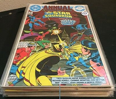 ALL-STAR SQUADRON DC Comics LOT of 10 Issues ~ from FN to NM #'s in details