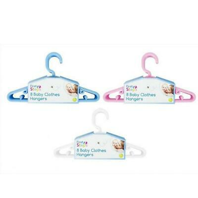 New First Steps 8 Baby Kids Toddler Clothes Coat Hangers 22Cm Slim Plastic