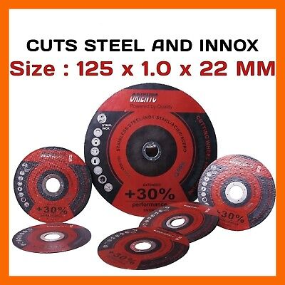 "100 X 5"" 125Mm Cutting Discs Wheels Angle Grinder Cut Off Metal Steel Stainless"