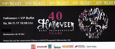 vip tickets karten halloween party burg frankenstein buffet eur 99 00 picclick de. Black Bedroom Furniture Sets. Home Design Ideas