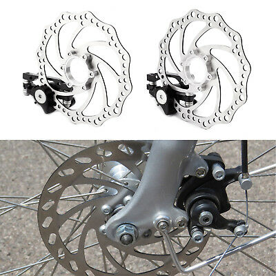 Mountain Road Bike Mechanical Disc Brake Front Rear Caliper Rotors 160mm