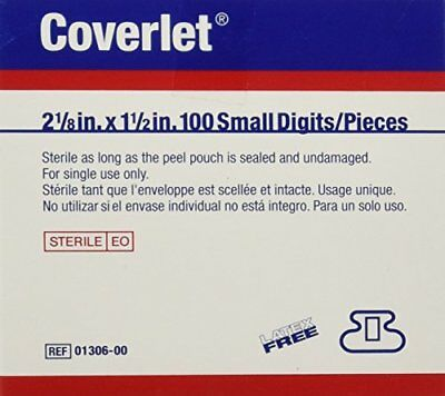 BSN Coverlet Small Fingertip Bandages 100/bx,2 1/8'' X 1 1/2''