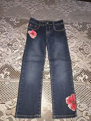 Girl's Gymboree Burst of Spring Floral Blue Jeans Size 6
