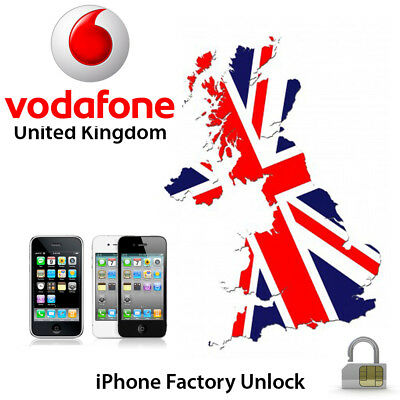 NETWORK UNLOCK CODE SERVICE for Vodafone UK iPhone 3 4 4S 5 5S 5C SE 6 6S 7 Plus