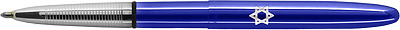 Star of David on BLUE BULLET Fisher Space Pen- in gift box 400BB-SD