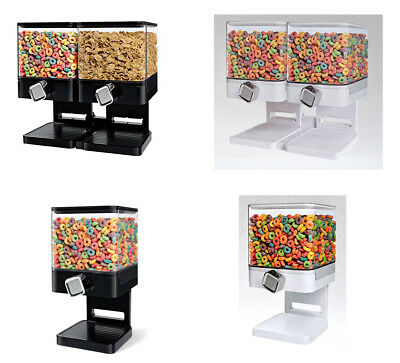Double/Single Cereal Dispenser Dry food Container Machine/Storage holds 19 Ounce