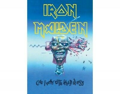 Posterfahne - Iron Maiden Can I play with Madness