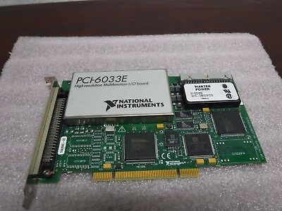 National Instruments Pci-6033E High-Resolution Multifunction I/o Board Pci