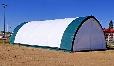 @@ New 20X42X12 Oval Tube Shelter Fabric Coverall Storage Building Hoop Barn