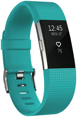 NEW Fitbit 3352727 Charge 2 Teal Silver Small