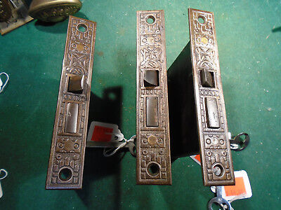 "ONE READING HARDWARE 'WINDSOR'  MORTISE LOCK w/KEY 5 1/4"" FACEPLATE, NICE (9755)"