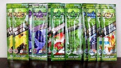 Juicy Jay's Hemp Wraps~12 Wraps Total~6 Different Flavors Variety Pack~SALE