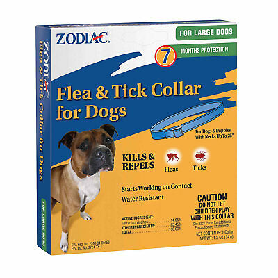 Zodiac Flea & Tick Collar for Large Dogs (7 Months Protection)