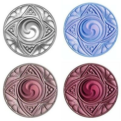Victorian 40mm Swirl Crystal Glass Jewel for Stained Glass - Five colors!