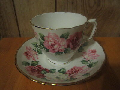 Crown Staffordshire England Fine Bone China Cup And Saucer