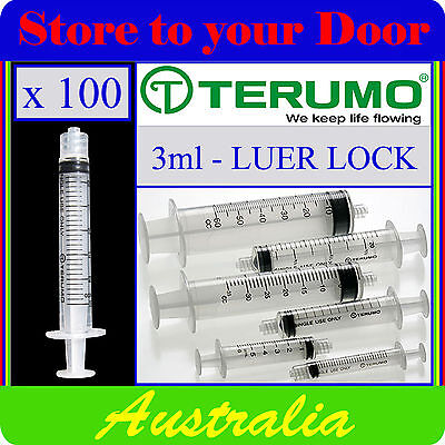 100 x 3ml Terumo Syringe Luer Lock - Hypodermic Needle / Medical / Diabetic