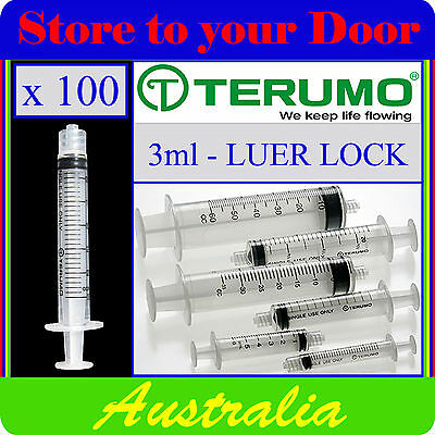 100 x 3ml Terumo Syringes, Luer Lock Tip, Syringe For Medical Hypodermic Needles