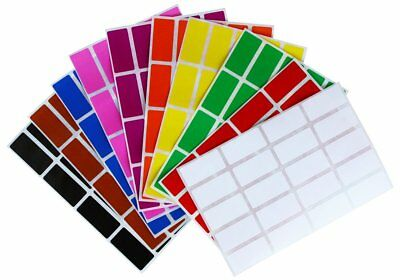 Rectangular Color Coding Stickers Assorted Colored Name Tags Labels 200 Pack
