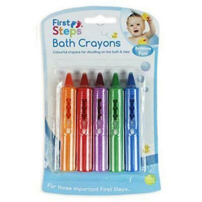 New First Steps 5 Pack Baby Bath Crayons Doodles Fun In Bath Non Toxic