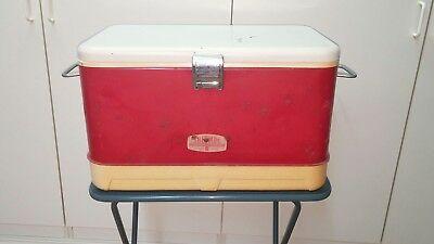 Vintage Metal Thermos Cooler Ice Chest Like Coleman
