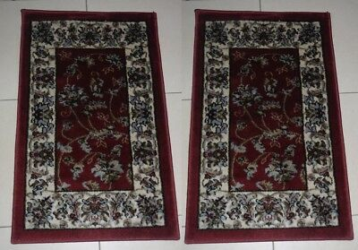 2X New Persian Design Heatset Runner Floor Rug/mat 50X80Cm
